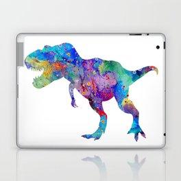 Dinosaur T-Rex Tyrannosaurus Rex Art Animals Nursery Decor Kids Room Watercolor Print Blue Purple Di Laptop & iPad Skin