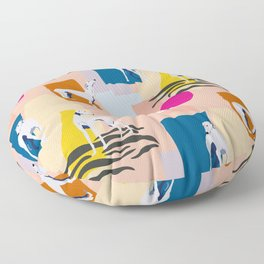 Greyhound colorful abstract pattern Floor Pillow