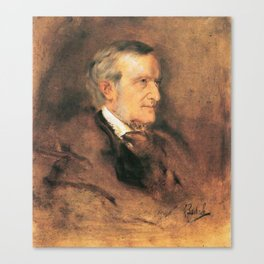 Richard Wagner (1813 – 1883) by Franz von Lenbach (1836 - 1904) Canvas Print