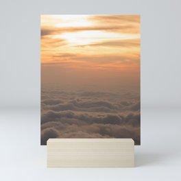night falling at the wood Mini Art Print