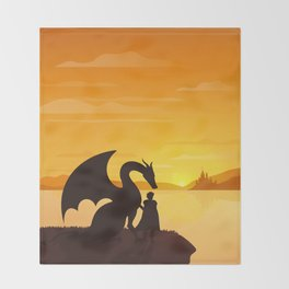 Dragon King Bakugo Landscape Throw Blanket