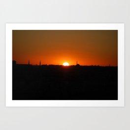 Istanbul Sunset Art Print