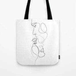 Lovers - Minimal Line Drawing Art Print 2 Tote Bag