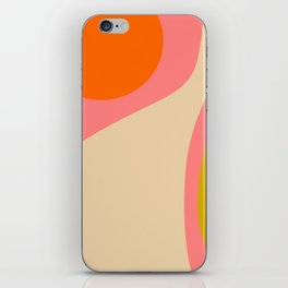 abstract composition modern blush pink iPhone Skin