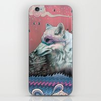 globe iPhone & iPod Skins featuring Lone Wolf by Mat Miller