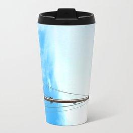 sailing pole and blue sky Travel Mug