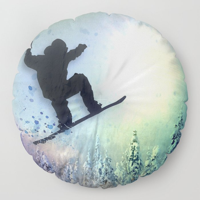 The Snowboarder: Air Floor Pillow