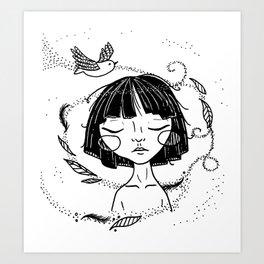 Free as a Bird - Ink Version Art Print
