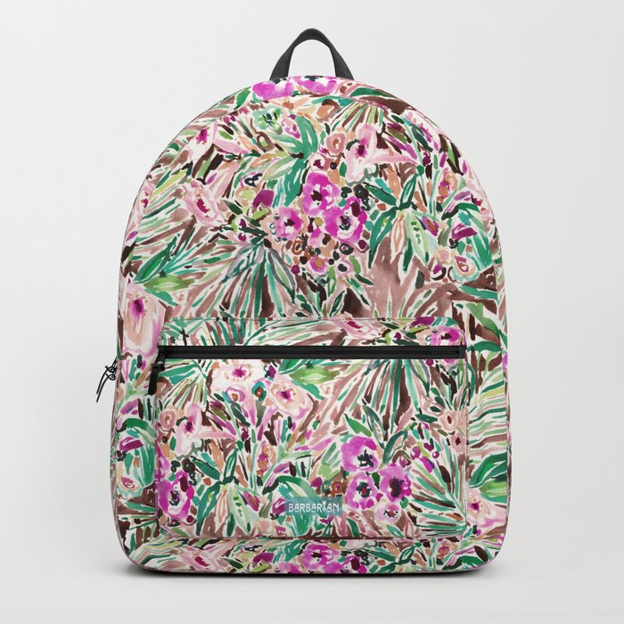 PLEASURE POINT Tropical Watercolor Floral Backpack