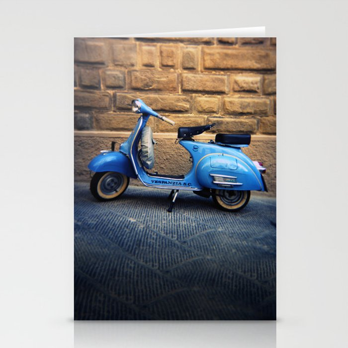 Blue Vespa, Italy Stationery Cards