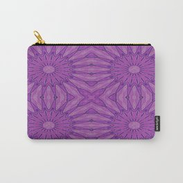 Purple Pinwheel flowers Carry-All Pouch