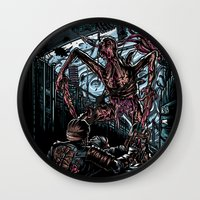 lee pace Wall Clocks featuring The Dead's Pace by WarrenRB