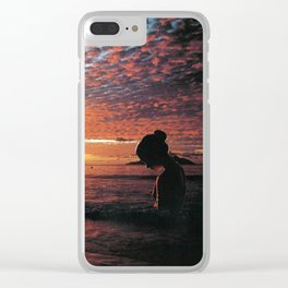 Silhouette Island Clear iPhone Case