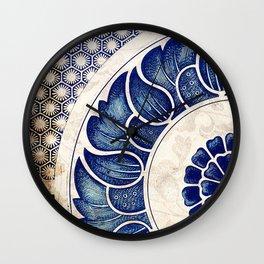 Blue Oriental Vintage Tile 05 Wall Clock