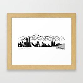 Skyline Caracas - Panoramic illustration Framed Art Print