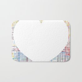The System - large heart Bath Mat