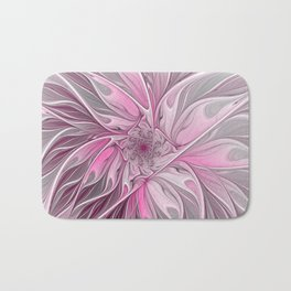 Abstract Pink Floral Dream Bath Mat