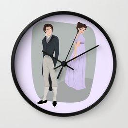 Pride and prejudice | Elizabeth and Darcy Wall Clock