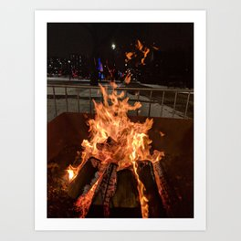 City Afflame Art Print