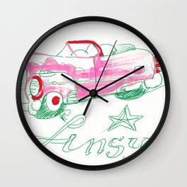 Pink Caddy Wall Clock