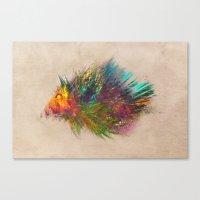 hedgehog Canvas Prints featuring hedgehog by jbjart