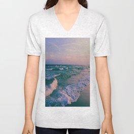 Sunset Crashing Waves Unisex V-Neck