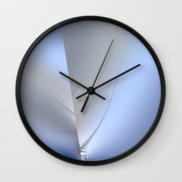 Fractal ice crystals at freezing point Wall Clock