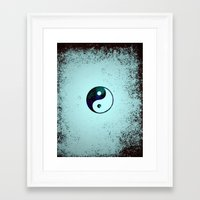 yin yang Framed Art Prints featuring Yin & Yang by Mr and Mrs Quirynen