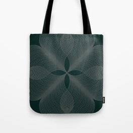 Green Velour Tote Bag