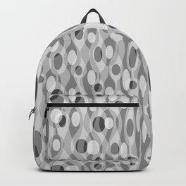 Gray Mid Century Modern Oval Geometric Backpack