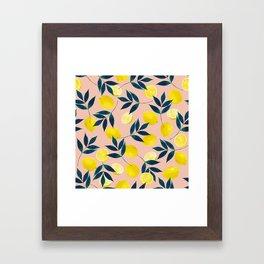 Lemony Goodness Framed Art Print
