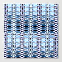 batik Canvas Prints featuring Blue Batik by Elena Indolfi