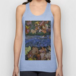 Alhambra Palace forest in autumn Unisex Tank Top