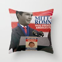 american psycho Throw Pillows featuring American Psycho - 3 by Marko Köppe