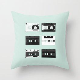 Cassette Pattern #2 Throw Pillow