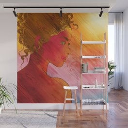 Independent Woman Sunset Wall Mural