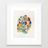 katamari Framed Art Prints featuring It's like a fucking awesome incredible dream by Marcelo Romero