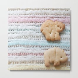 Animal Crackers - rainbow Metal Print