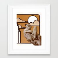 apollo Framed Art Prints featuring Apollo by Anna Hollings