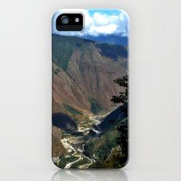 Lake at Mach Picchu iPhone Case