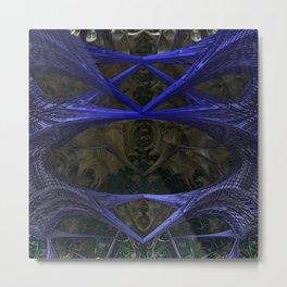 Xeno Blue Metal Print