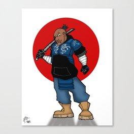 Street Samurai Series - Blue Canvas Print