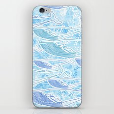 Blue Whale iPhone & iPod Skin