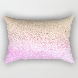 GOLD PINK GLITTER by Monika Strigel Rectangular Pillow
