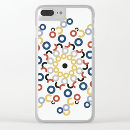 Mondriaan Mandala Clear iPhone Case
