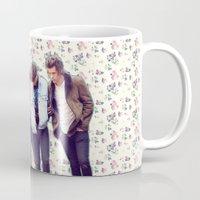 1d Mugs featuring Floral 1D by Valerie Hoffmann