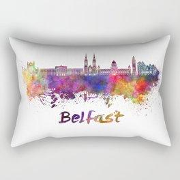 Belfast skyline in watercolor Rectangular Pillow