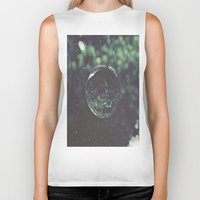 globe Biker Tanks featuring Snow Globe by Jane Lacey Smith