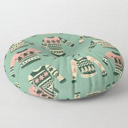 Christmas Sweaters – Vintage Blush Mint Palette Floor Pillow