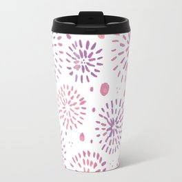 Abstract watercolor sparkles – pastel pink and ultra violet Travel Mug